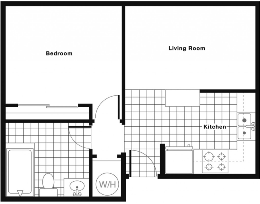 DOWNSTAIRS: 475 square feet