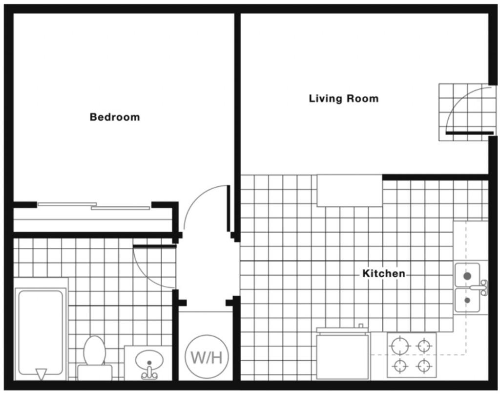 525 SF Floorplan